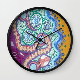 Rainbow Serpent Wall Clock