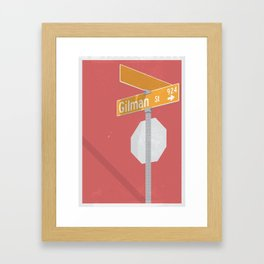 Punk Rock Saved My Life // 924 Gilman Street // California Framed Art Print