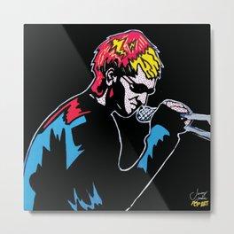Layne Unplugged   Pop Art Metal Print