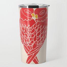 Love Birds (Red) Travel Mug