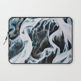 Aerial of an abstract River in Iceland Laptop Sleeve