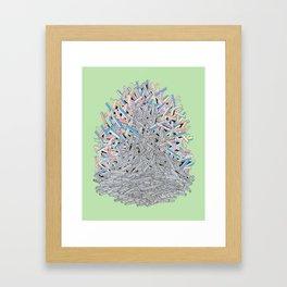 A Green Ascent Framed Art Print