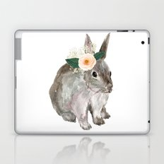 bunny with flower crown Laptop & iPad Skin