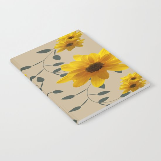 Yellow Flowers and Vines Notebook