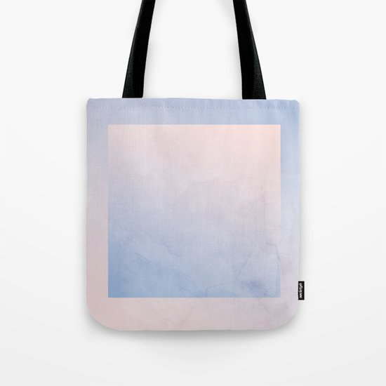 Rose Quartz and Serenity Geometric Ombre Tote Bag