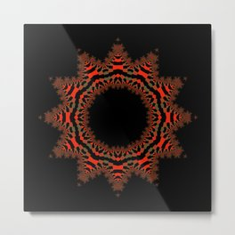 Red Abstract Wreath Metal Print