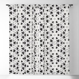 Modern abstract tiny triangle shaped lace modern abstract pattern Blackout Curtain