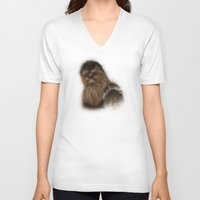 chewbacca V-neck T-shirts featuring Chewbacca by KitschyPopShop