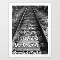 NONSTOP RAILWAY Art Print