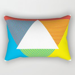 Color Wheel, design by Christy Nyboer Rectangular Pillow