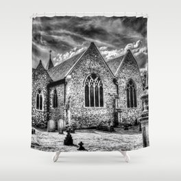 Orsett Church Essex England infrared Shower Curtain