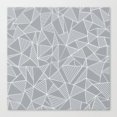 Abstraction Lines Grey Canvas Print