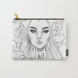 Lupine Love (black&white) Carry-All Pouch