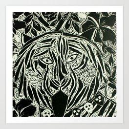 Bengal Tiger 'Bagh Kali' Art Print