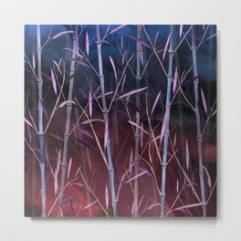 Dark Bamboo Forest Metal Print