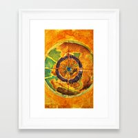 compass Framed Art Prints featuring Compass by Jose Luis