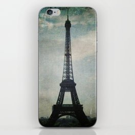 Eiffel Tower in the Storm iPhone Skin