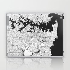 Sydney City Map Gray Laptop & iPad Skin