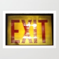 Vintage Exit  Art Print