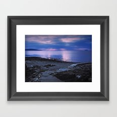 Evening sunset Framed Art Print