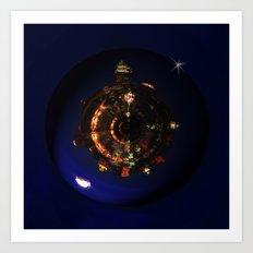 Manhattan Island Moonlight Art Print