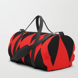LARGE RED AND BLACK  HARLEQUIN DIAMOND PATTERN Duffle Bag