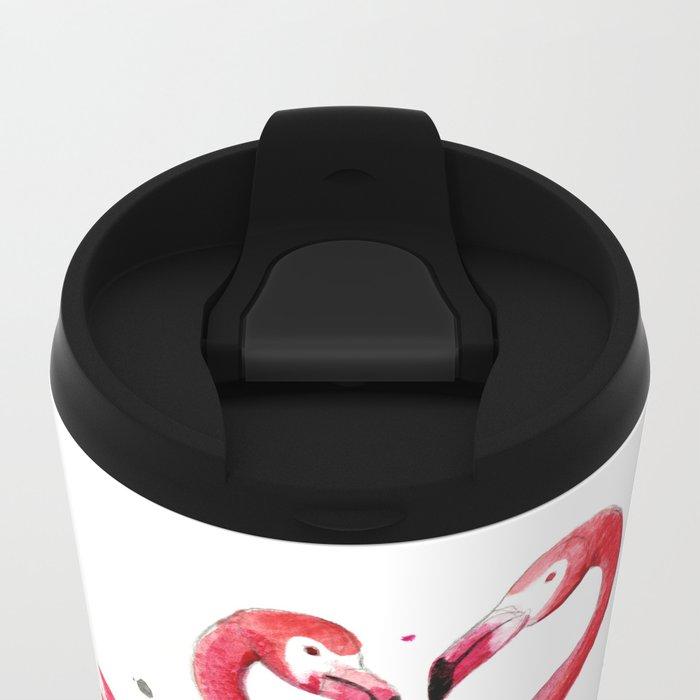 Flamingo Metal Travel Mug