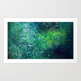 Color Fields: Mermaid Grotto Art Print