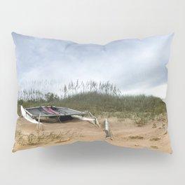 Beached Catamaran Pillow Sham