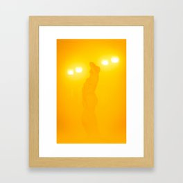 A muse through the fog Framed Art Print