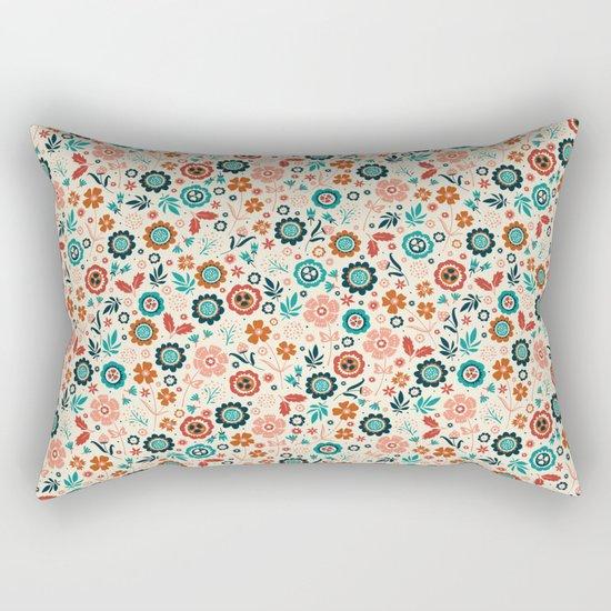 Folk Flowers Rectangular Pillow
