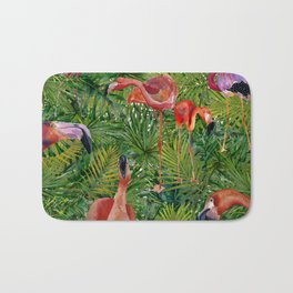 Aloha- Flamingo Bird Jungle Bath Mat
