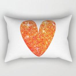 sparkly heart Rectangular Pillow