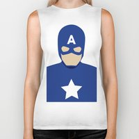 captain Biker Tanks featuring Captain by Mi Absurda Osadía