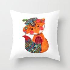 The Prince of Fox Throw Pillow