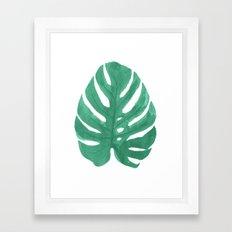 Monstera Leaf Painting Framed Art Print
