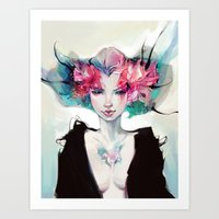 moth Art Prints featuring Moth by Yoalys