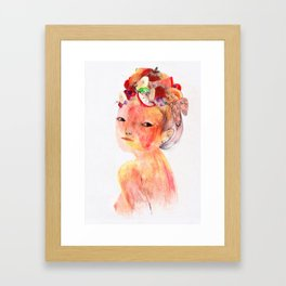 Salade de fruit Framed Art Print