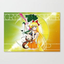 Sailor Moon Super S - Jupiter & Venus Crystal Power! Canvas Print