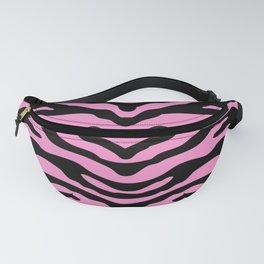 Zebra Wild Animal Print Pink and Black Fanny Pack