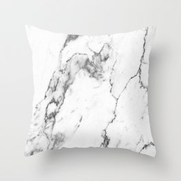 White Marble I Throw Pillow