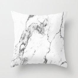 White Marble I Throw Pillow