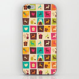Christmas square pattern 02 iPhone Skin