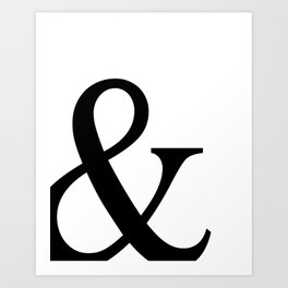 Typography, Ampersand, And Sign Art Print