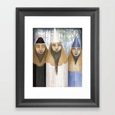 Three Pencilheads Gather Together Framed Art Print