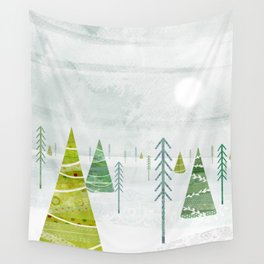 Christmas Forest Wall Tapestry