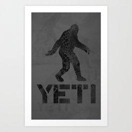 Yeti Crypt Tech Camo Art Print
