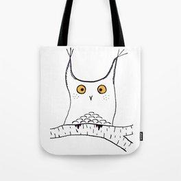 Squarish Owl Tote Bag