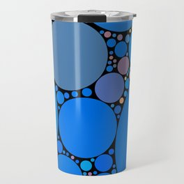 ariana redux: bright royal blue abstract ocean Travel Mug