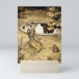"""The Frog King"" by Erich Schutz Mini Art Print"